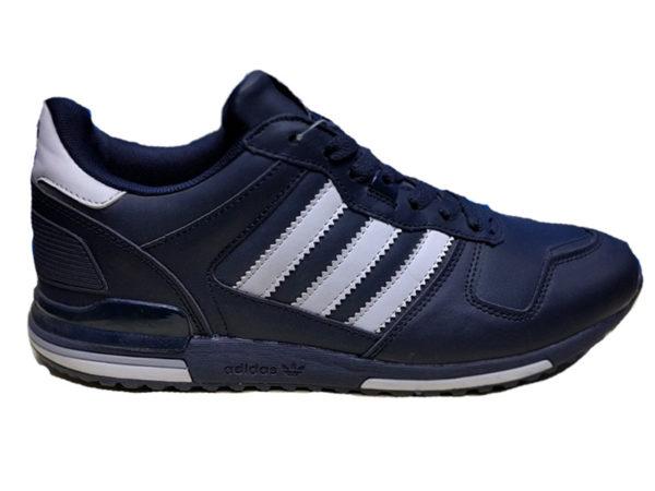 Adidas ZX 700 Leather синие с белым