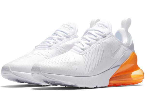 Nike Air Max 270 белые с оранжевым