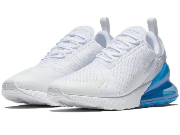 Nike Air Max 270 белые с голубым