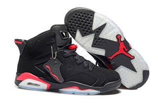 Nike Air Jordan 6 черные с красным (35-45)