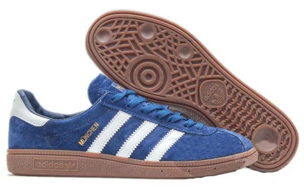 Adidas Munchen синие с белым (40-44)