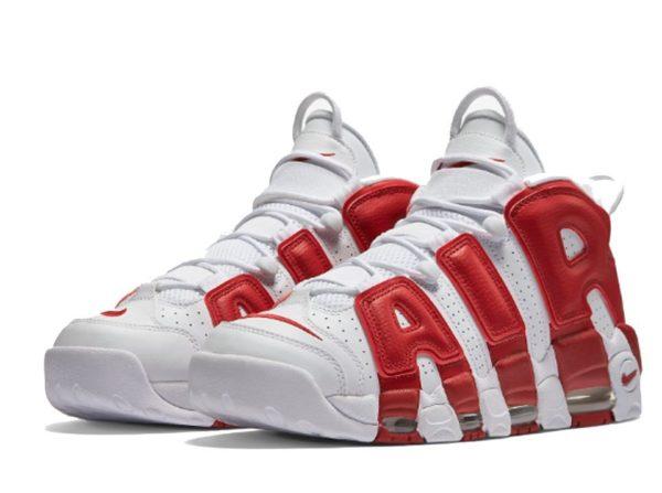 Nike Air More Uptempo белые с красным 40-45