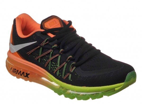 Nike Air Max 2015 черные с оранжевым (39-45)