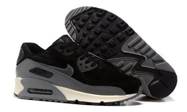 Nike Air Max 90 черные с серым (35-44)