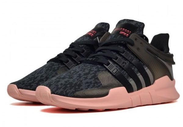 """Adidas Equipment Support """"ADV"""" черные с розовым (35-39)"""