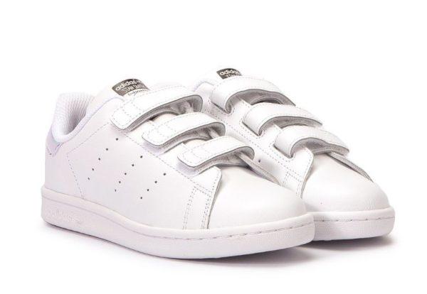 Adidas Stan Smith CF белые с серебряным (35-39)