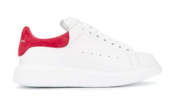 Бордовые кроссовки Alexander McQueen