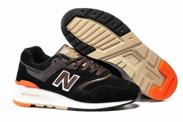 New Balance 997 черные с оранжевым (39-43)