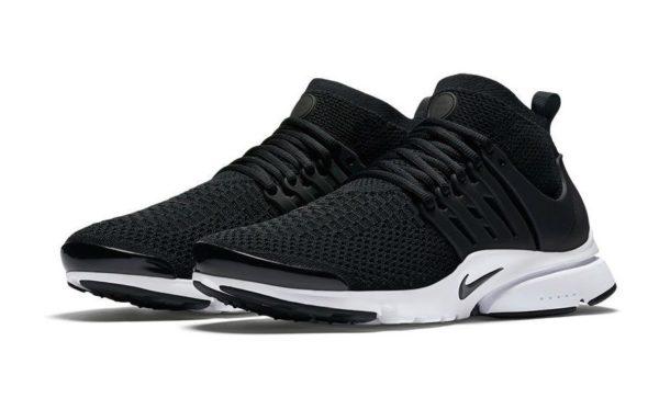 Nike Air Presto Flyknit Ultra черно-белые (39-44)