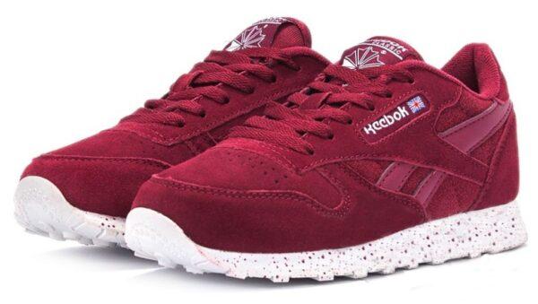 Бордовые кроссовки Reebok